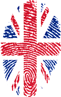UK flag / fingerprint