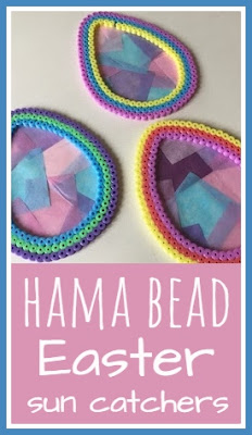 Hama bead Easter Egg sun catchers