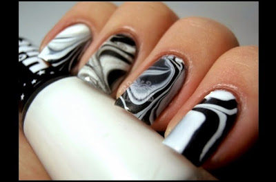 Uñas decoradas con agua, modernos diseños de uñas para ver gratis