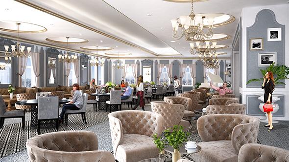 Khu cafe với không gian đẹp