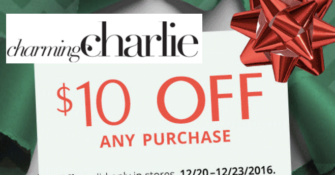 Charming charlie coupon code