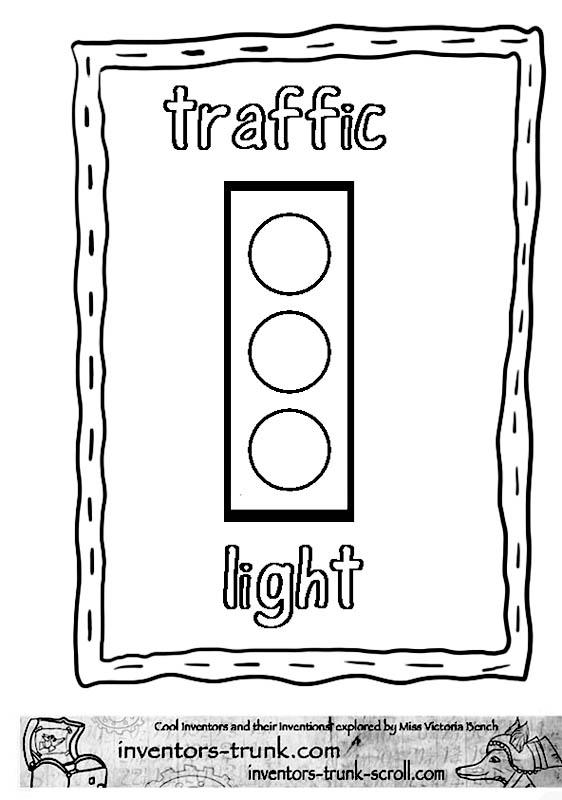 صور اشارات المرور للتلوين Coloring Page Traffic Light