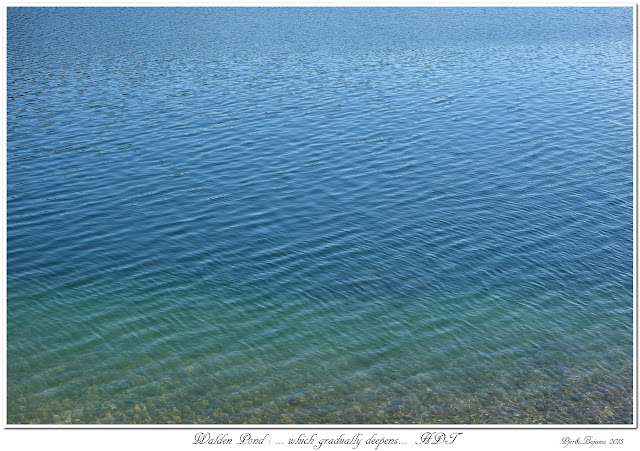 Walden Pond: ... which gradually deepens... HDT