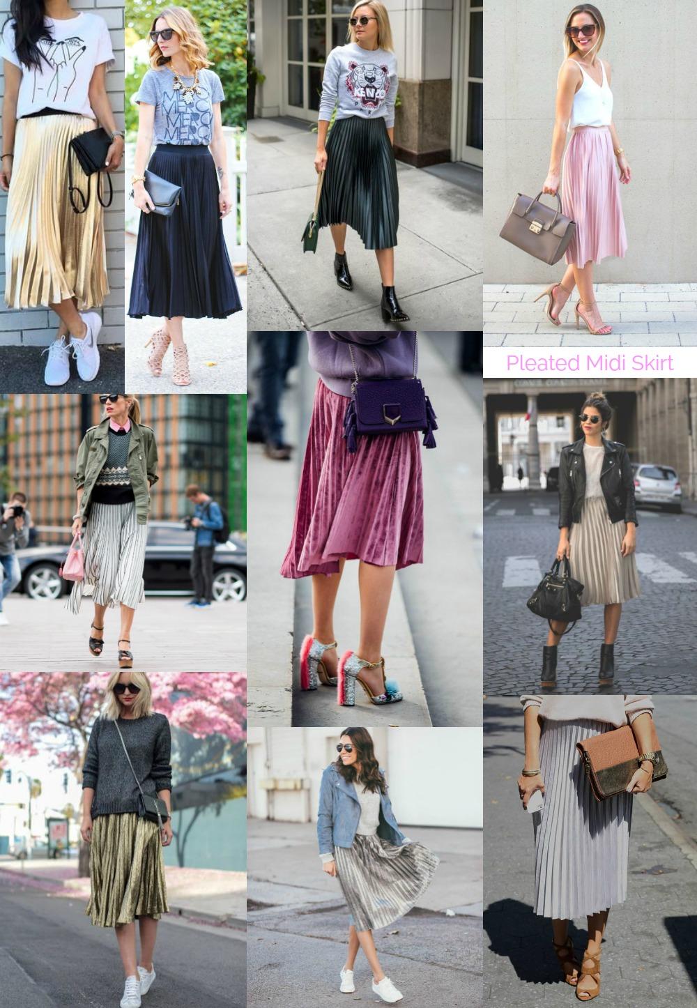 How to wear the Pleated Midi Skirt - inspiration
