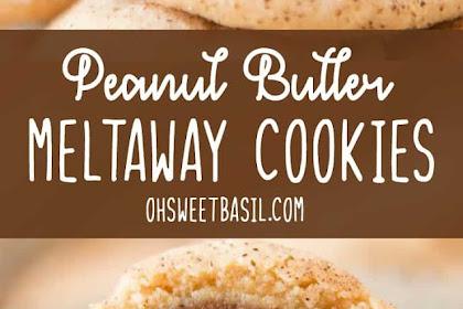 Peanut Butter Meltaway Cookies