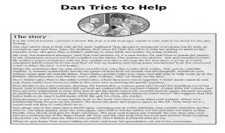 قصة Dan tries to help المقررة على المدارس التجريبية واللغات
