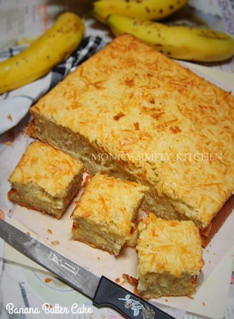 resep banana butter cake