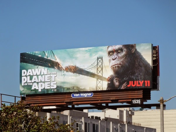 Dawn of Planet of Apes baby chimp billboard