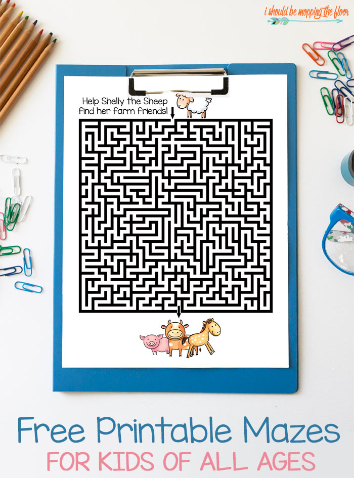 Free Printable Mazes For Kids I Should Be Mopping The Floor