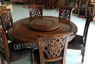 harga meja makan putar kursi meja salina