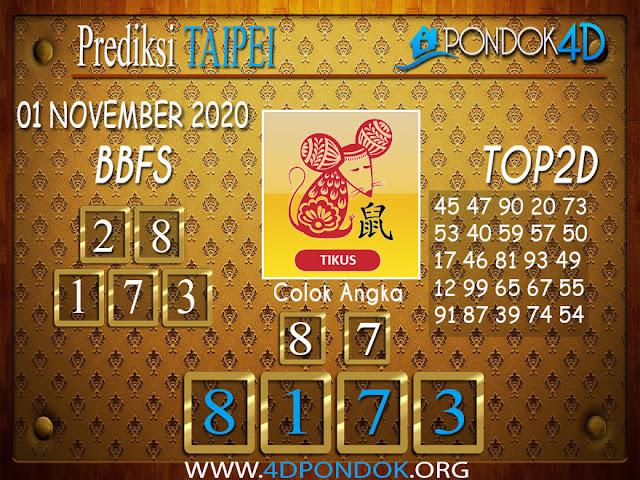 Prediksi Togel TAIPEI PONDOK4D 01 NOVEMBER 2020