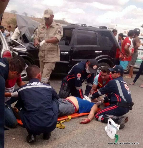 Grave acidente é registrado na PE-160, próximo ao presídio de Santa Cruz do Capibaribe