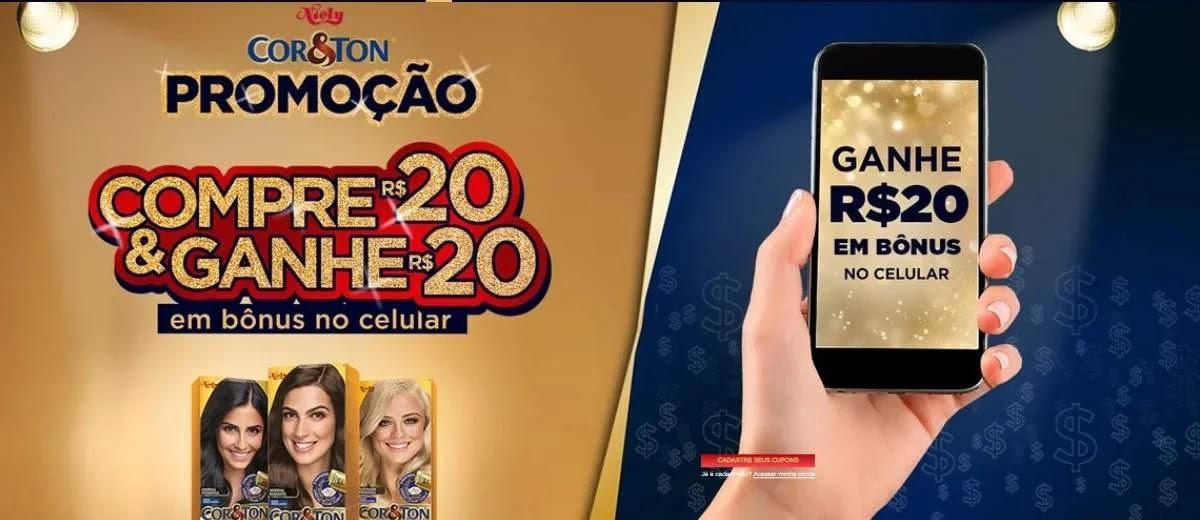 Promoção Niely Cor & Ton 2020 Ganhe 20 Reais Crédito Celular