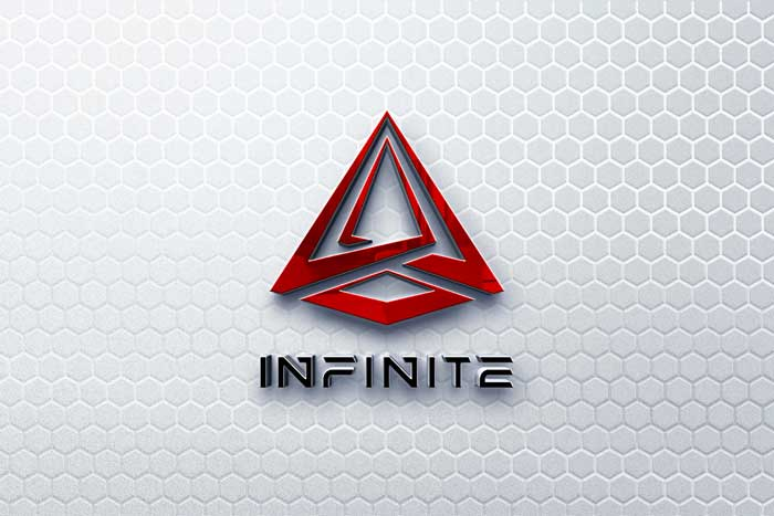 3D Logo Elegant Futuristic Mockup