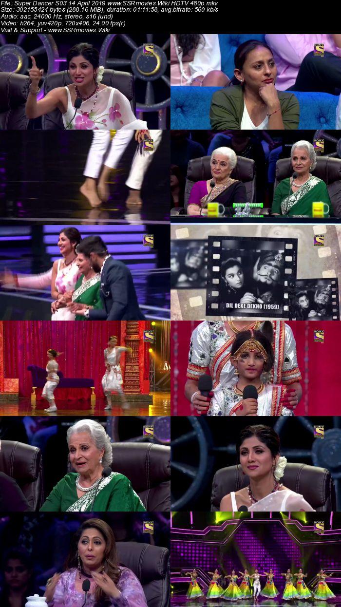 Super Dancer S03 14 April 2019 HDTV 480p Full Show Download