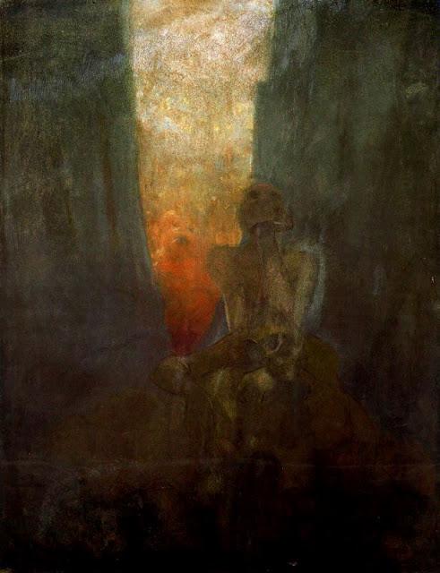 Альфонс Муха - Пропасть. 1899