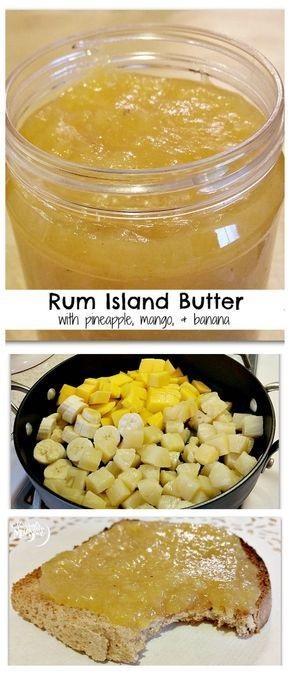 Rum Island Butter With Pineapple, Mango, & Banana