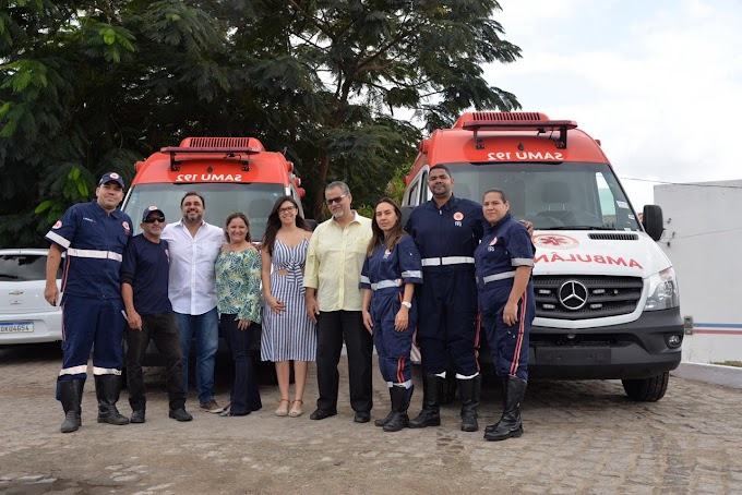 Jacobina recebe novas ambulâncias do SAMU