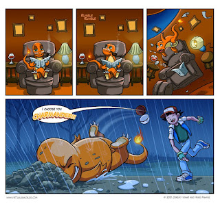 Funny Pokemon comic about Charmander