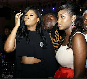 Image result for images of omotola jalade and daughter