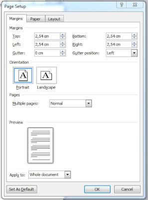 Cara Mengatur Ukuran Kertas atau Margin di Office Word 2010