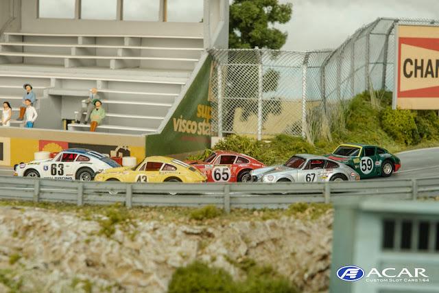 AFX Porsche Carrera converted to Porsche 911 S 24h Le Mans 1970