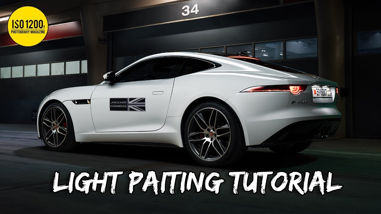 Light painting the Jaguar F-TYPE (Car light painting tutorial)