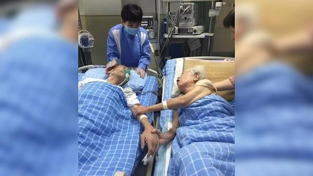 One last time: Elderly couple reunites before husband passes away