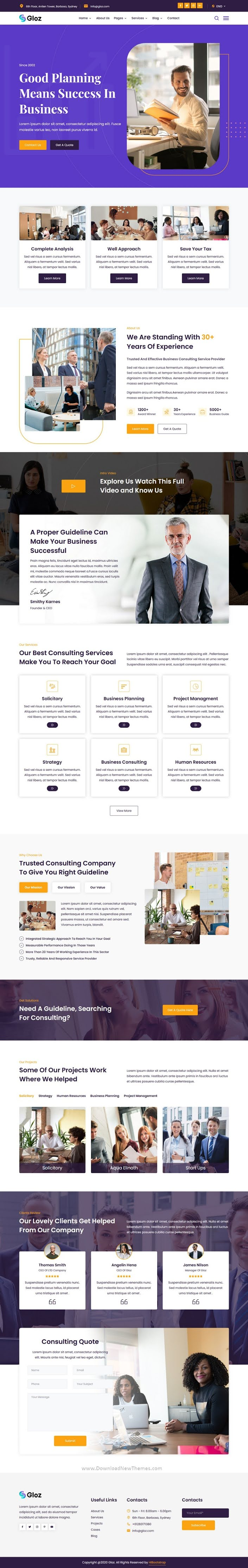 Business Consulting Responsive Template
