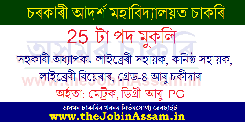 Govt. Model College Borkhola Recruitment 2020: