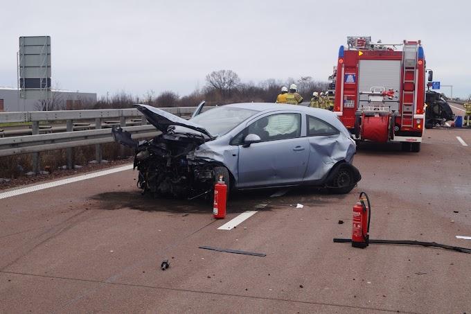 Schwerer Verkehrsunfall auf der A9 bei Bitterfeld