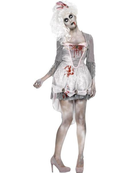 HALLOWEEN FANCY DRESS BLOOD BLOODY STAINS STOCKINGS ZOMBIE SCARY HORROR COSTUME