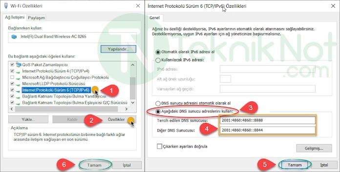 Windows 10 iPv6 DNS Değiştirme, Nasıl Yapılır?