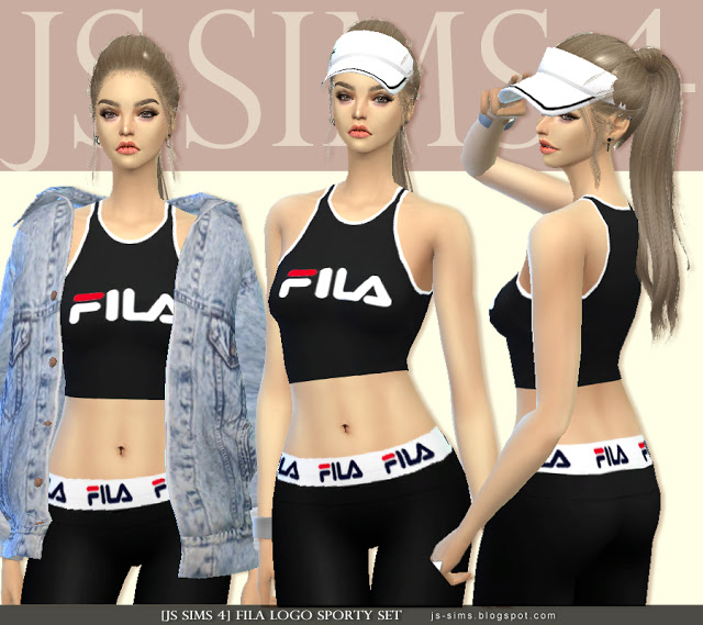 Sims 4 cc's   the best: fila sporty set by js sims 4
