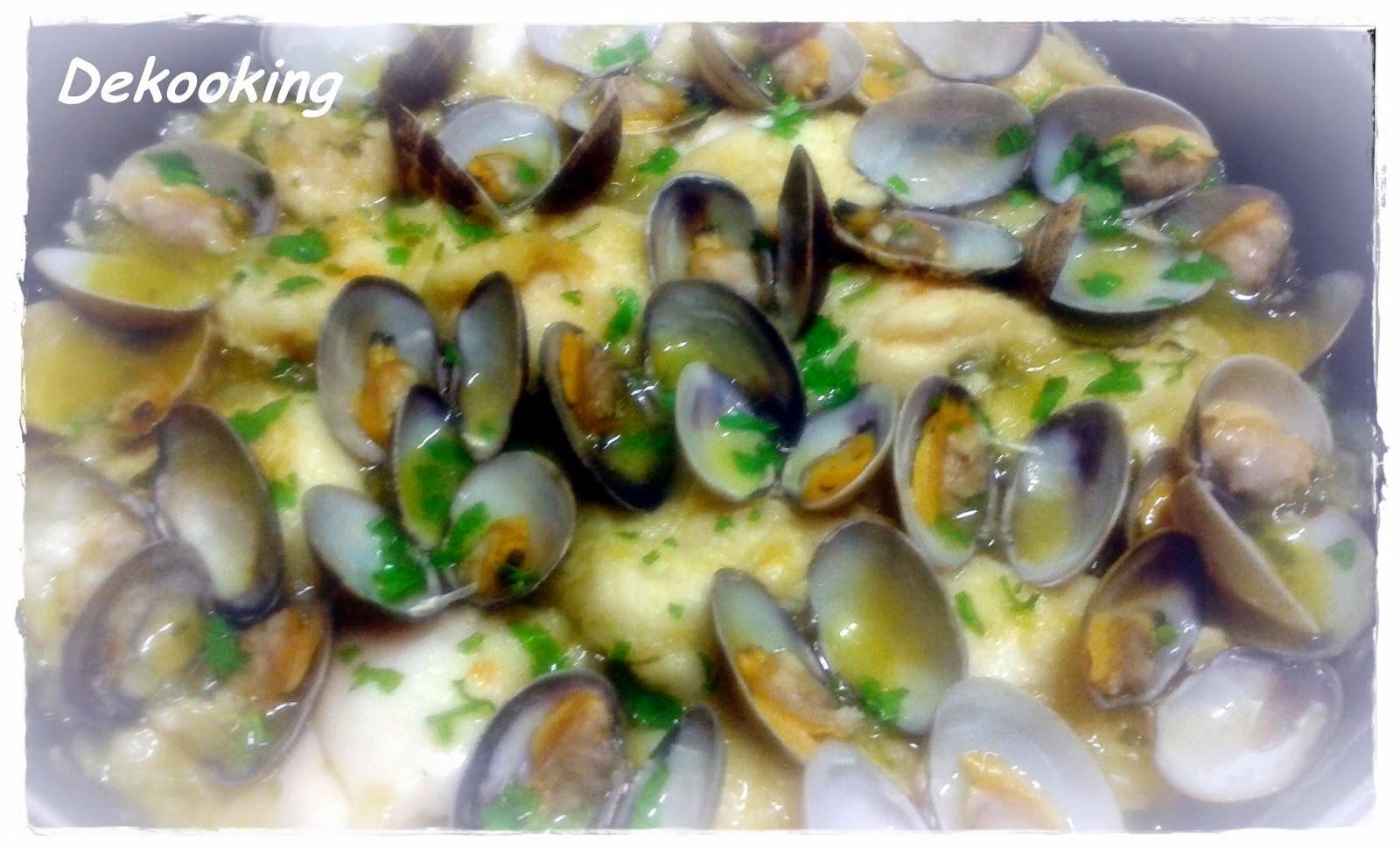 Dekooking carrilleras de bacalao con almejas en salsa verde - Salsa verde para almejas ...