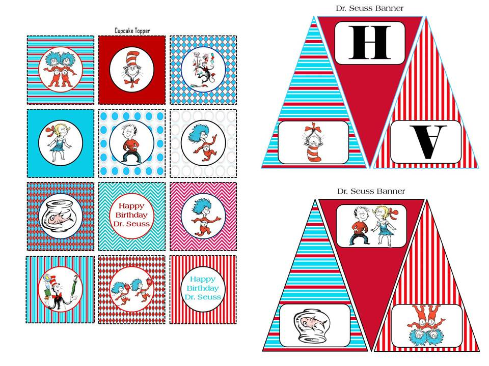 It's just a picture of Canny Free Dr Seuss Birthday Printables
