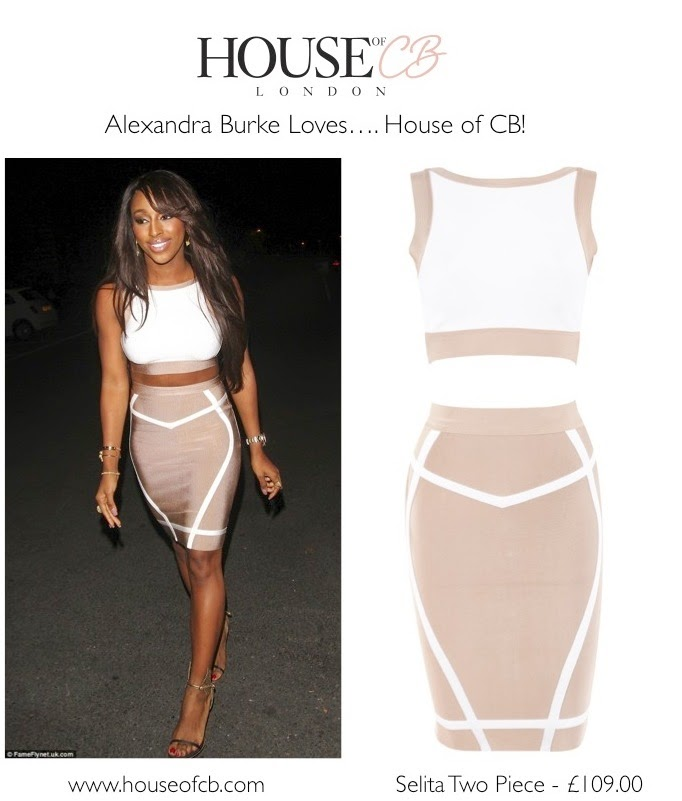 c9dcbb97601c frumpy to funky  Alexandra Burke Sizzles in House of CB Two Piece