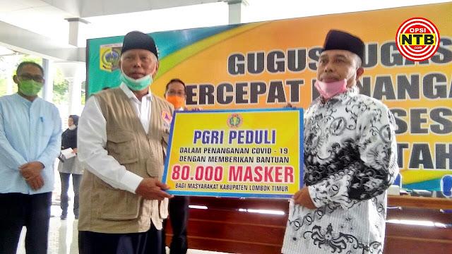 Gerakan Satu Juta Masker di Lotim Dapat Sumbangan Rp 650 Juta