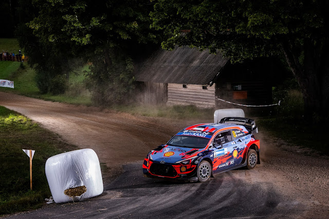 Hyundai World rally car in estonia