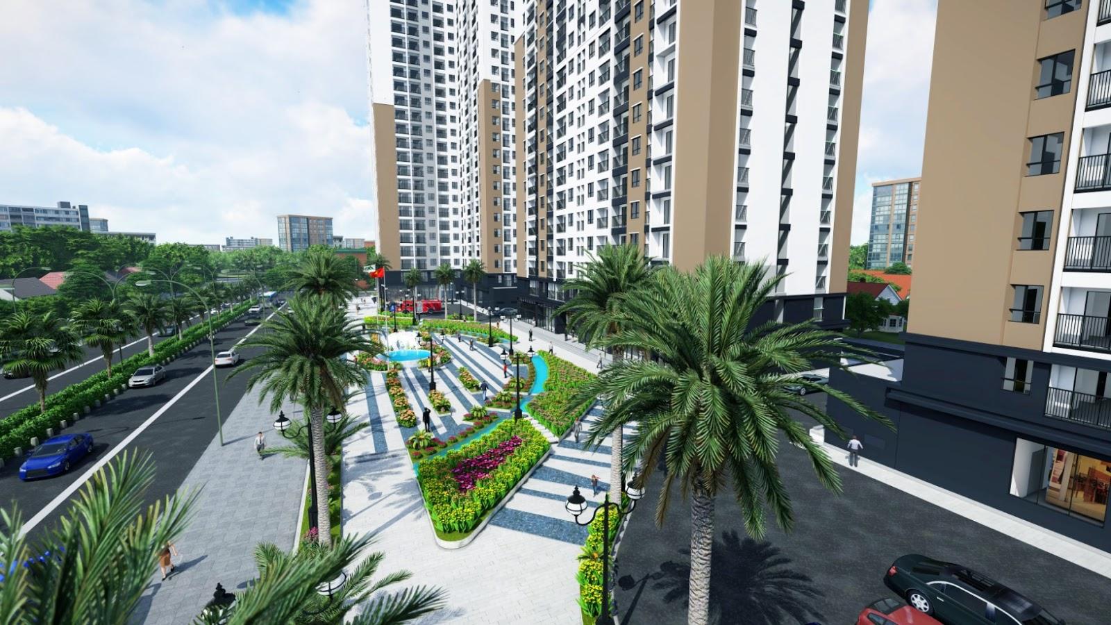 Cảnh quan xung quanh dự án Xuân Mai Tower
