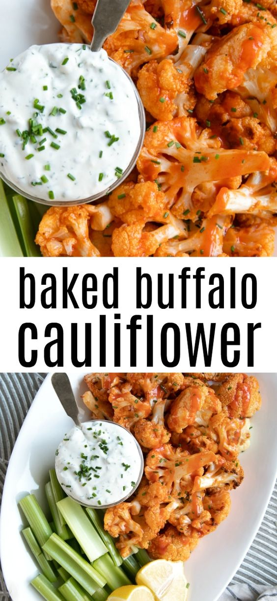 BAKED BUFFALO CAULIFLOWER RECIPE