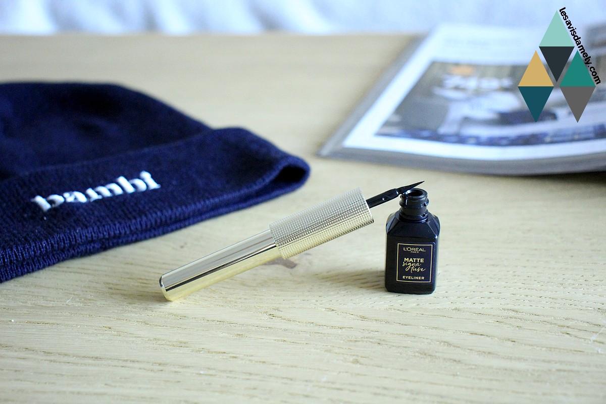 avis eye liner matte signature l'oréal paris noir mat intense