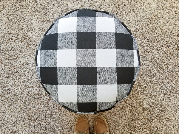 buffalo plaid ottoman