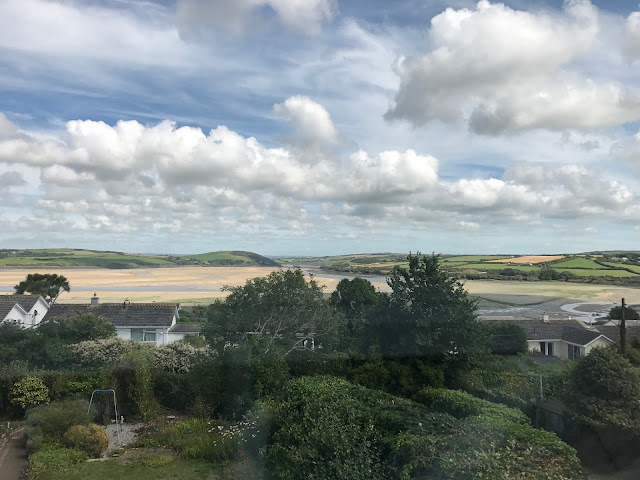 View from the B&B, overlooking the Camel Estuary, Cornwall