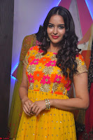 Pujitha in Yellow Ethnic Salawr Suit Stunning Beauty Darshakudu Movie actress Pujitha at a saree store Launch ~ Celebrities Galleries 027.jpg