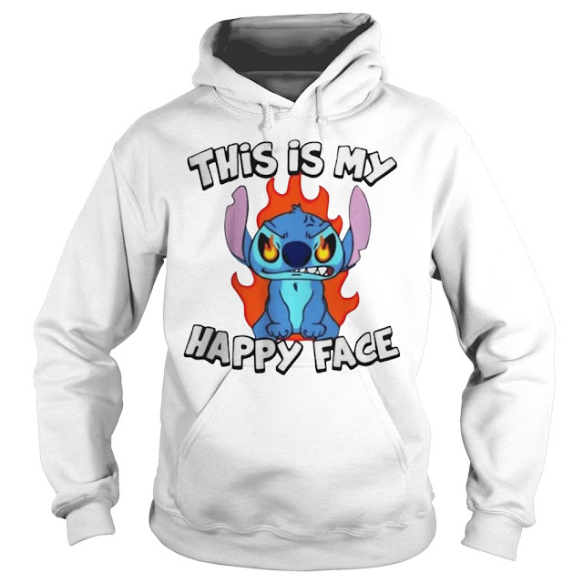 Stitch This Is My Happy Face Hoodie, Stitch This Is My Happy Face T Shirts,