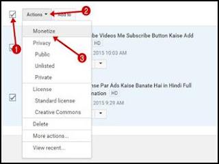 Sabhi Youtube Videos Monetize Kaise Kare Ek Sath .Puri jankari.
