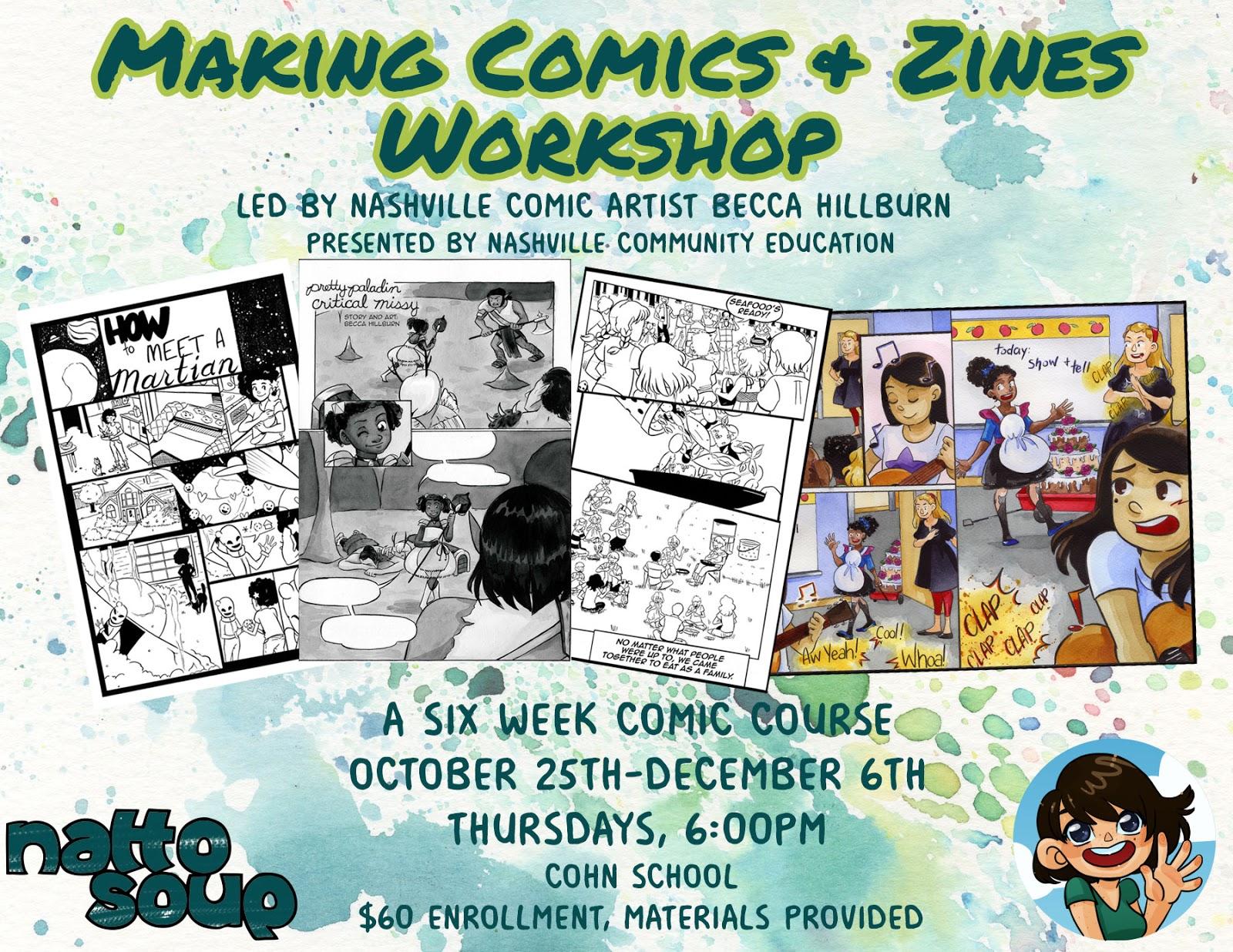 Nattosoup Studio Art and Process Blog: Making Comics and