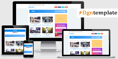Digizena Blogger Template Free responsive