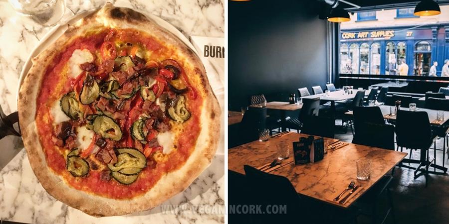 Vegan pizza in Cork Burnt